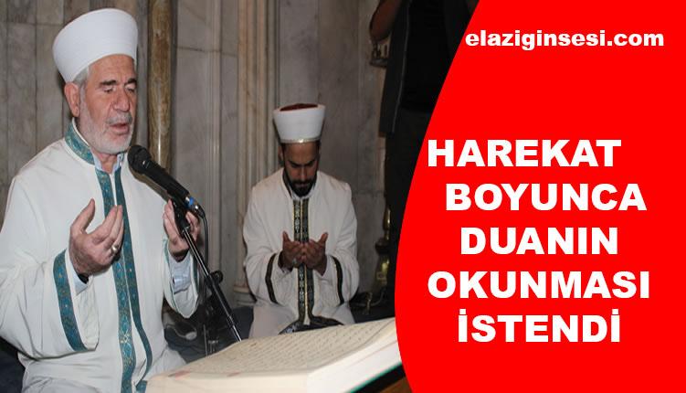 'BARIŞ PINARI HAREKATI' İÇİN FETİH SURESİ OKUNDU