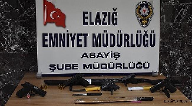POLİSİN ŞOK UYGULAMASINDA 7 SİLAH ELE GEÇİRİLDİ