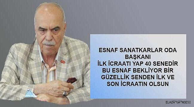 """İCRAAT BEKLİYORUZ"""