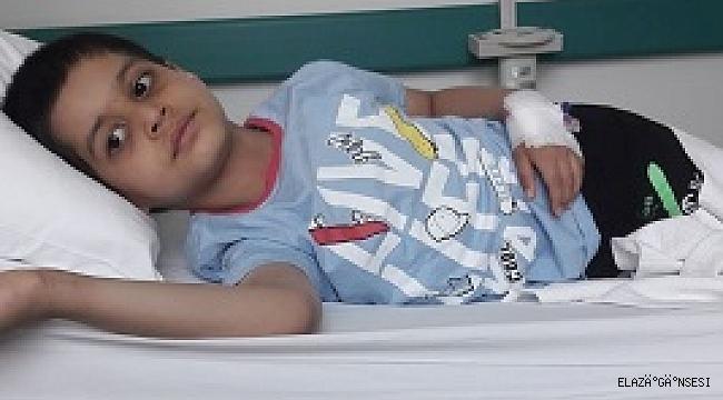 6 yaşındaki Taha'nın beyin tümörü küçüldü