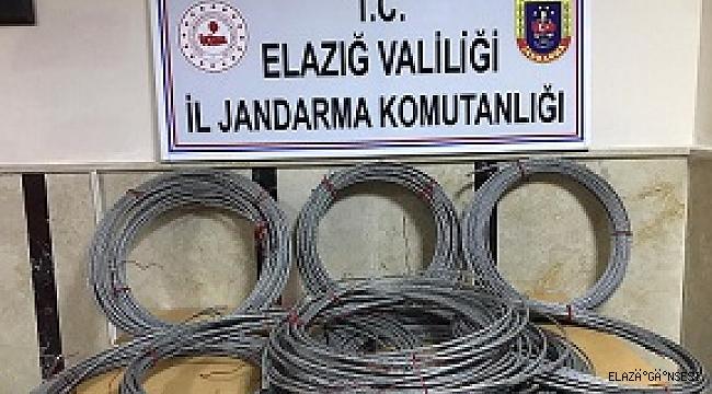 Köyün kablosunu çalan iki kişi yakalandı