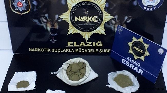 Elazığ'da uyuşturucu operasyonu: 2 tutuklama