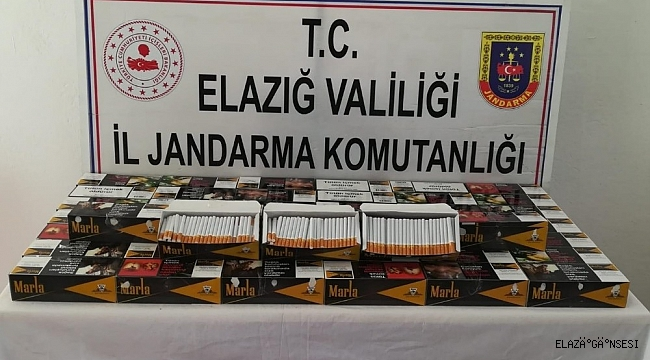 Elazığ'da 10 bine yakın kaçak sigara ele geçirildi