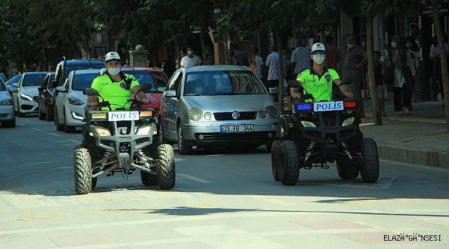 Elazığ'da polisler, ATV motorlu denetime başladı