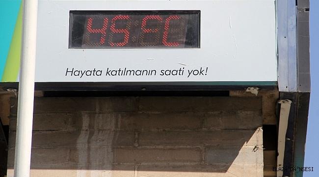 Elazığ'da termometreler 45 dereceyi gösterdi