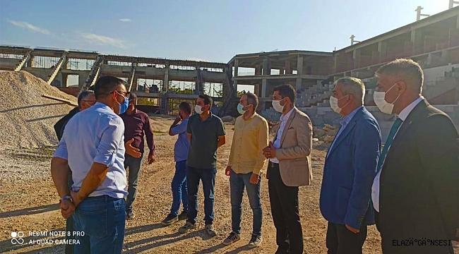 Elazığ Stadı yapım çalışmaları denetlendi