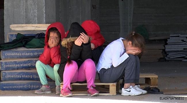 Elazığ'da intihara teşebbüs eden kadını çocukları gözyaşları içerisinde izledi