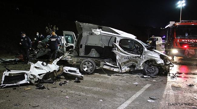 Elazığ'da feci kaza: 3 ölü, 3'ü ağır 4 yaralı