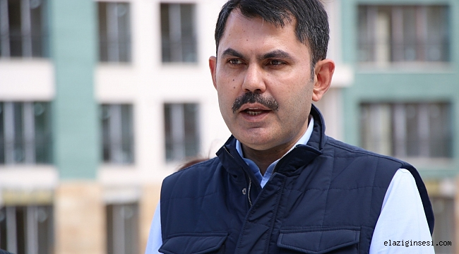 """Bakan Kurum: """"Elazığ'da 23 bin konut yapıyoruz, biten konut sayısı 11 bini aştı"""""""