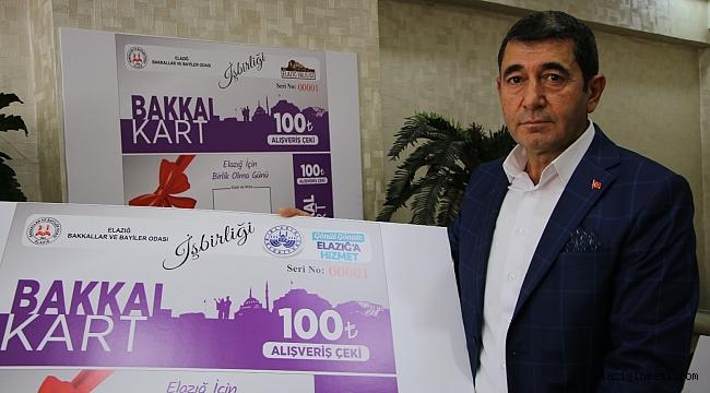 """Elazığ'da yerel esnafa """"Bakkal Kart"""" desteği"""
