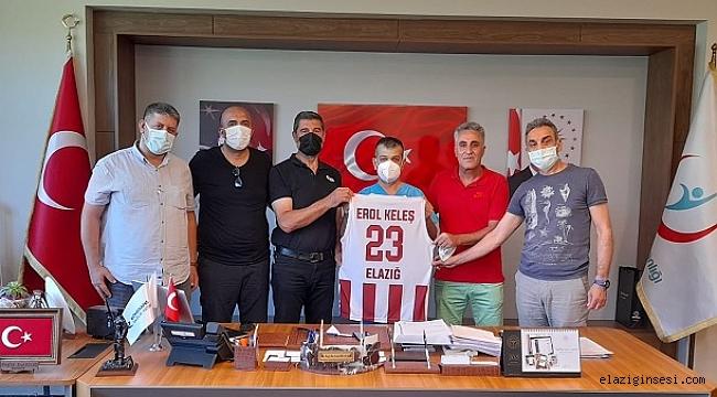 Elazığ Basketbol Kulübü yönetimi Başhekim Prof.Dr Keleş'i ziyaret etti